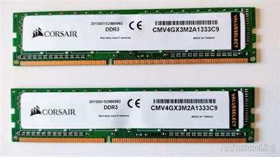 Ram DDR3 Corsair CMV4GX3M2A1333C9 - Nuove e Usate