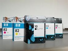 Set 5 cartucce per plotter HP n. 10-82